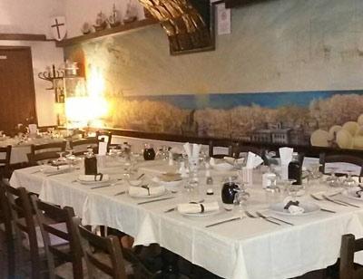 cena degli sconosciuti genova hostaria i maneggi