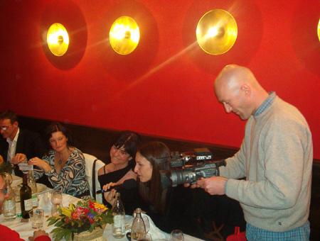 Le telecamere di Lucignolo alla cena di Firenze