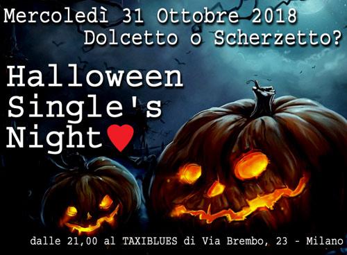 Non sai con chi festeggiare Halloween  Vuoi conoscere tutti i single di  Milano  Ti aspettiamo Mercoledì 31 Ottobre 2018 al Taxiblues di Milano. 446d6da8ba0c