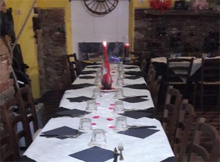 cena degli sconosciuti carrara osteria la geode